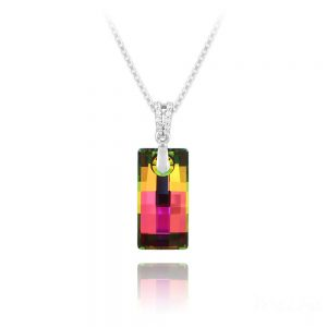 Urban 20mm Silver Necklace with Swarovski Crystal Vitrail Medium