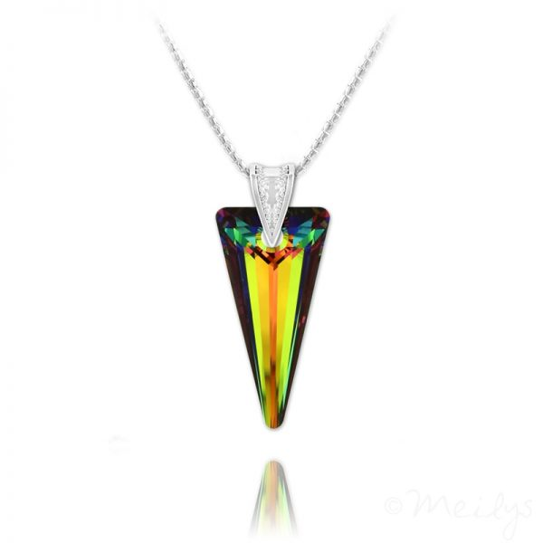 Spike 28mm Vermeil Necklace with Swarovski Crystal Vitrail Medium