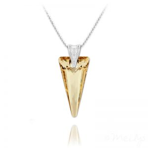 Spike 28mm Vermeil Necklace with Swarovski Crystal Golden Shadow